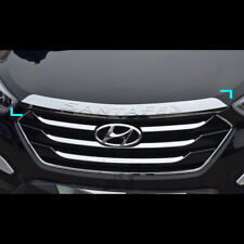 Chrome Hood Bonnet Guard Cover Molding For Hyundai Santa Fe Sport 2013~2015