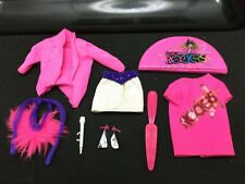 Vtg 1985 1986 Barbie & The Rockers hot pink Clothes & Accessories Lot