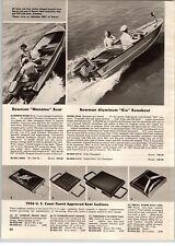 1956 Paper Ad Bowman Rio Runabout Manatee Geneva Orlens Motor Boat