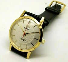 Hmt Sona Super Slim Hand Winding Gold Plated Men's Vintage India Watch Run Order