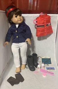 """Battat Horse Back Riding 18"""" Doll Clothes Set Fits AG Suit Helmet Gloves Vest +"""