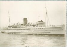 Postcard Steamship Isle Of Man Ferry T.S.S Monas Queen III Sea trials unposted