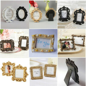 Vintage Small Photo Frame Picture Holder Home Wedding Place Name Card Clip Decor