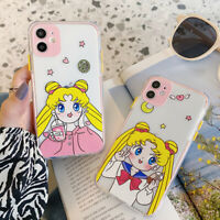Cute Clear Milk Tea Sailor Moon Phone Case Cover For iPhone12 11 Pro Max 7 8+ XR