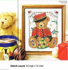 CHRISTMAS TEDDY   -     CROSS STITCH PATTERN    A7L2S