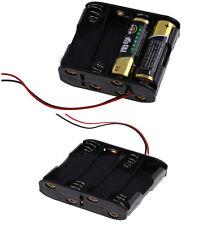 Portable 8pcs AA Cells Battery (12v) Clip Holder Box Case Black Small IFA