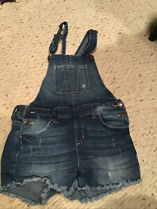 Justice Overall Shorts Girls Size 14