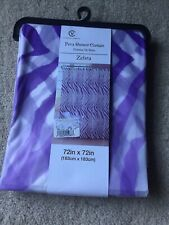 Victoria Classics  Peva vinyl shower curtain purple zebra 72x72