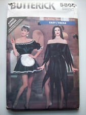 Vampire Goth Vamp French maid Adult costume pattern 5800 size P S M L