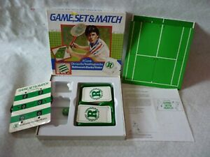Boxed Waddingtons Robinson Barley Water Game Set & Match Tennis Board Game 1982