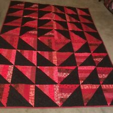 Handmade Red and Black Quilt, Twin or Throw (PRICE REDUCED!)