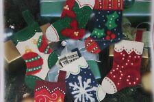 New listing Needle Felting Mini Stocking Kit Marie Osmond Makes six Dimensions