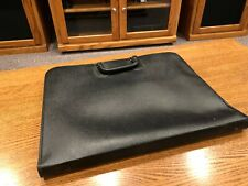 Vintage Design NSM LEATHER Art Portfolio Zippered Case with Handle