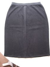 NWT St. John Knits Caviar Black Wool Pencil Skirt. US6 RRP £330