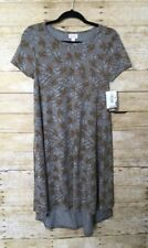 New listing Lularoe Disney Carly Size Xxs New With Tags Gray Background Brown Mickey Mouse