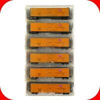 N Scale MILW MILWAUKEE ROAD URTX 51' Reefer Car 6-Pack -KADEE MICRO TRAINS 69062