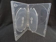 DVD CASE 6 DISC CLEAR PREMIUM  - 14MM - 4 PACK