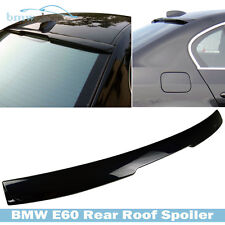 Painted BMW E60 5-Series Saloon 4D #416 Carbon Black Roof  Window Spoiler