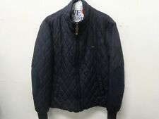 Harmont & Blaine Men's Long Sleeve Puff Full Zip  Black Jacket L Made in Italy
