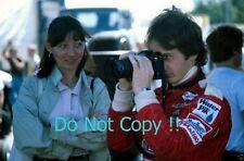Gilles Villeneuve & Wife Joann Villeneuve Ferrari F1 Portrait Photograph