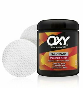 OXY Maximum Action 3-in-1 Acne Pads 90 ct Salicylic Acid Treatment Blemish Spot