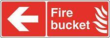 Health and Safety Fire Sticker Fire Bucket Sticker Red