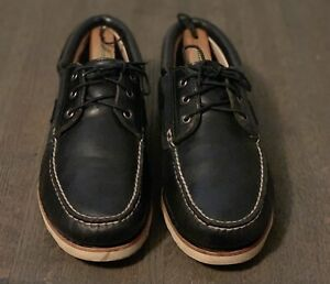 TIMBERLAND ABINGTON NAVY BLUE WEDGE BOAT SHOE EU 44 US 11.5 UK 10.5