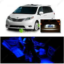 For Toyota Sienna 2011-2016 Blue LED Interior Kit +Xenon White License Light LED