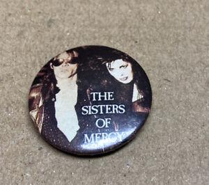Sisters Of Mercy Goth Indie Rock Badge 1980s Original Red Moon