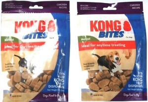 2 Count Kong Bites Natural Any Time Treating For Dogs Chicken Flavor BB 11-30-21