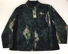 9802cb573703b Mossy Oak Men's Eclipse Jacket Medium NWT Break Up Soft Fleece Camo Full Zip