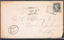 8c Small Queen Registered cover ANTIGONISHE NS Square cancel DE 29,1894