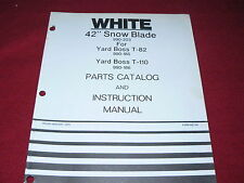 """Oliver White Tractor Yard Boss 42"""" Snow Blade for T-82 T-110 Parts Book"""