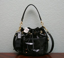 COACH $378 Poppy Sequins POPPY CINCH Drawstring Crossbody Bag 17906 BLACK