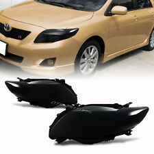 JDM Style Dark Smoked Lens Headlight Lamps For 2009-2010 Toyota Corolla