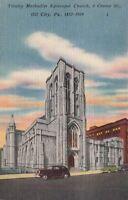 Postcard Trinity Methodist Episcopal Church Oil City PA