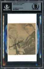 """Amos """"Alonzo"""" Stagg Autographed 3x3.5 Newspaper Page Photo Beckett 11628476"""