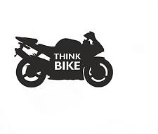 Think Bike safety Car Sticker
