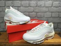 NIKE LADIES AIR MAX 97 SE BULLET WHITE PINK YELLOW MESH LEATHER TRAINERS RRP£165