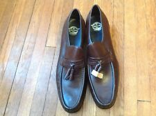 Florsheim Leather Tassel Loafers Size 12A Brown ~ New Sales Samples!