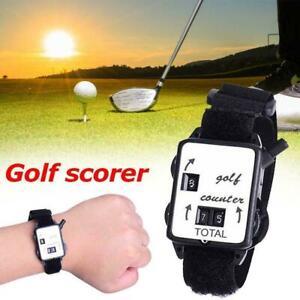 Golf Score Stroke Keeper Count Watch Putt Counter Shot With Wristband(Mel Stock)