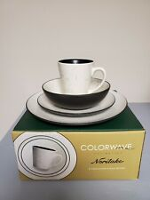 NEW Noritake® Dinnerware Colorwave Bloom 4-Piece Place Setting In Graphite