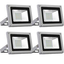 4x 20W LED Fluter Flutlicht Außen Strahler Scheinwerfer Außenleuchte kaltweiss