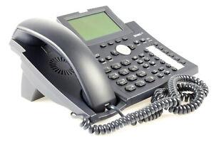 Snom 370 VoIP Telefon SIP POE ohne Netzteil Schwarz (LED Backlight defekt)
