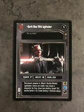 Darth Maul With Lightsaber Star Wars CCG
