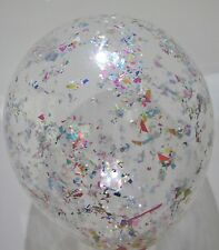 1 CLEAR 12 INCH/30CM CONFETTI FILLED BALLOON BIRTHDAYS WEDDINGS PARTIES EVENTS