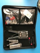 Rare, RoseWill, Lan Crimper Plier Kit w/ Leather Carry Case, Cat5 Cat6 Ethernet