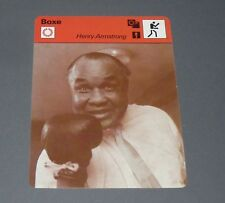 FICHE BOXE BOXING HENRY ARMSTRONG POIDS PLUMES LEGERS WELTERS