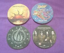 NUCLEAR BLAST Promo Beer Mats x 4 In Flames Amorphis Edguy Deathstars