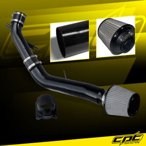 For 03-07 G35 3.5L V6 Manual Black Cold Air Intake + Stainless Steel Air Filter